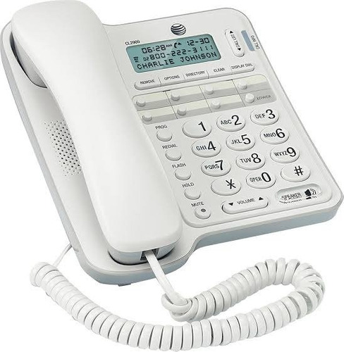 telefonos alambrico at&t con identficador de llamadas