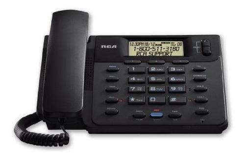 teléfonos con cableteléfono rca 25201re1 2 líneas nego..