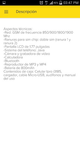 telefonos economicos ipro i3185 mp3, mp4. nuevos.