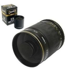 telefoto opteka 500mm f/8 high definition mirror p canon hm4