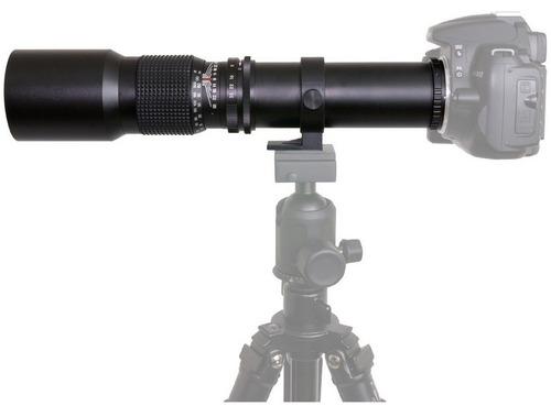 telefoto opteka 500mm f/8 para camara reflex canon