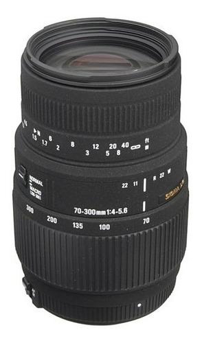 telefoto sigma 70-300mm f/4-5.6 dg macro para nikon
