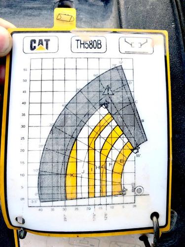 telehandler caterpillar th580b mod 2007 para 18 mts