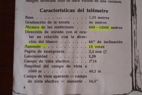 telemetro ejercito  de  inversion      nedinsco