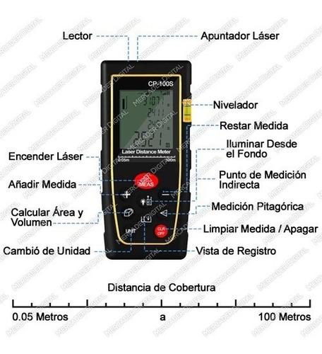 telémetro láser distancia 100 metros distanciómetro + envío