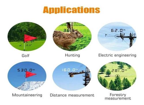 telemetro laser  mileseey pf210 600 m/yar caza golf trabajo