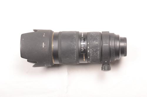 teleobjetivo sigma 70-200mm af 2.8 para nikon