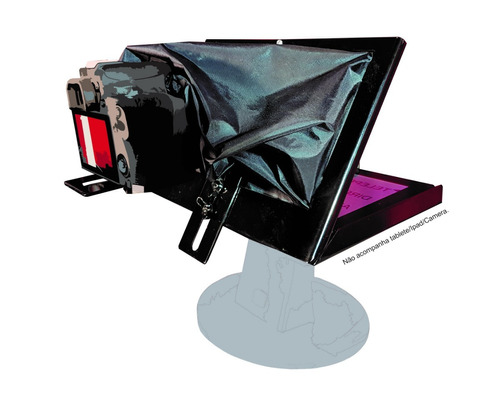 teleprompter baby completo tripe/controle e adaptador de cel