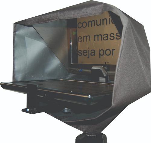 teleprompter com tripé + controle remoto simples - compacto