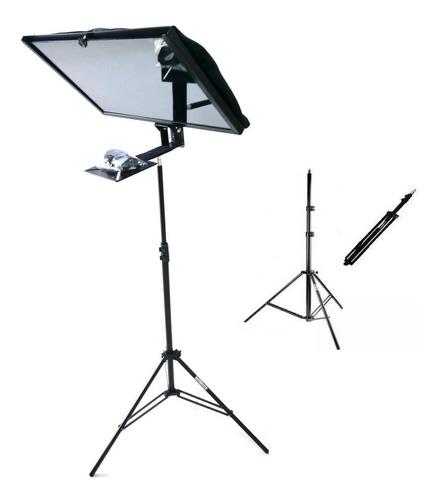 teleprompter com tripé  p/ monitor até19 polegadas ou ipad