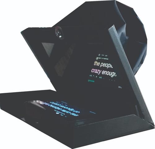 teleprompter mini c/ tripé + controle remoto