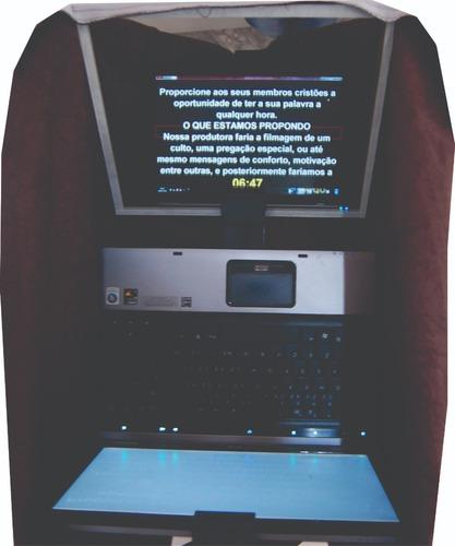 teleprompter notebook p/ios c/ tripe/teclado bluetooth/adapt
