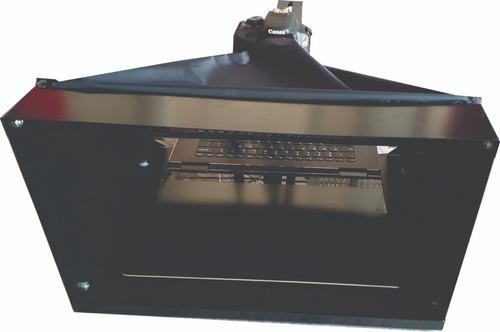 teleprompter p/ notebook c/ tripé + adaptador celular -  cai