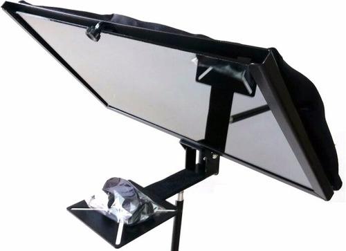 teleprompter para monitores e telas da até 19 polegadas