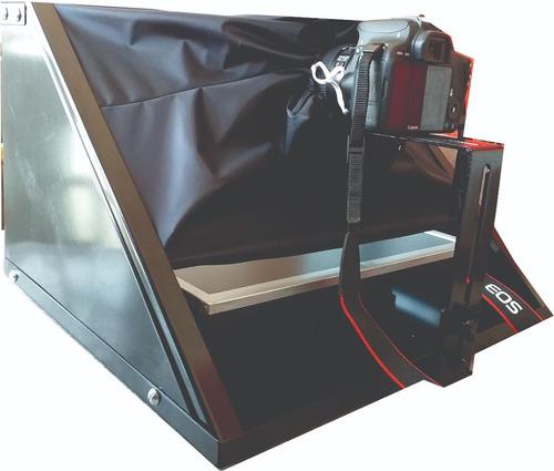 teleprompter tripé + adaptador celular - caixa preta