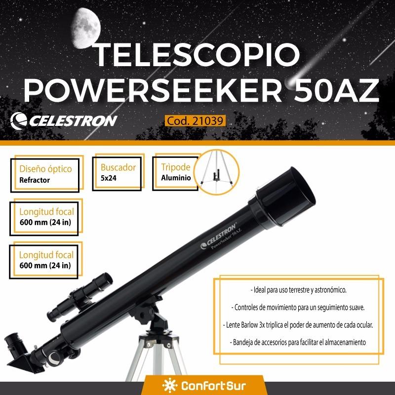 Telescopio Refractor Celestron Powerseeker 50