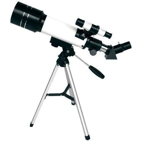 telescópio 70mm tripé f400 70m csr 12x s/ juros frete grátis