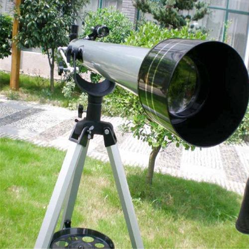 telescopio astronomico refrator 675x 90060 tripé + 4 lentes