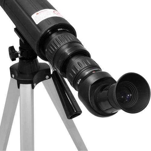 telescopio astronomico terrestre zoom 60x lente 60mm