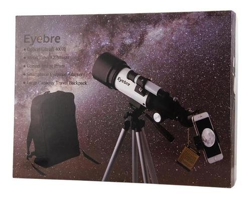 telescopio catalejo refractor 400x70 mochila metálico