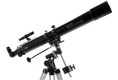 telescopio celestron refractor montura ecuatorial 189x 900mm