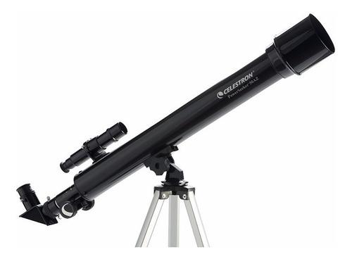 telescopio celestron refractor powerseeker 50x600+barlow 3x