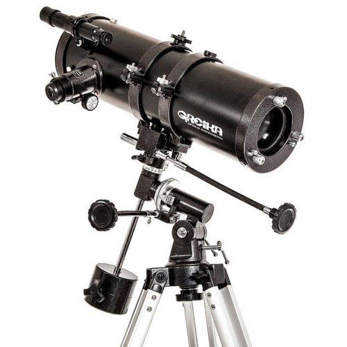 telescópio equatorial newtoniano 1000 x 114mm greika
