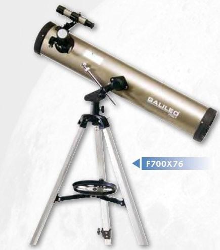 telescopio galileo reflector 700x76 aumento 525x c/tripode