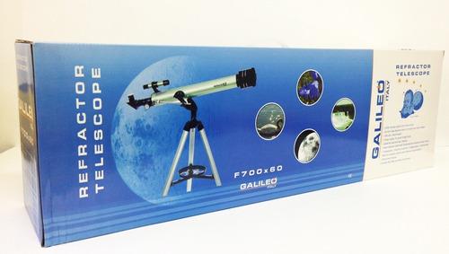 telescopio galileo refractor f700x60 astronomico y terreste