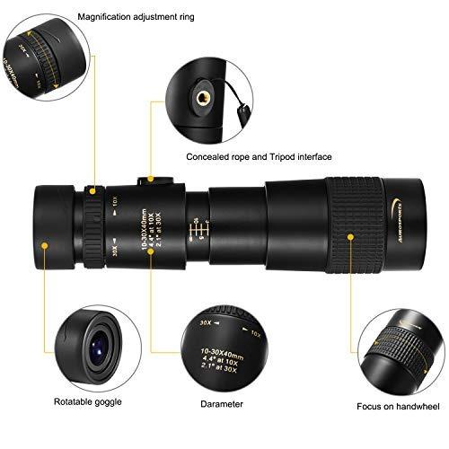 telescopio monocular aurosports 1030x40 con prisma bak4 enfo
