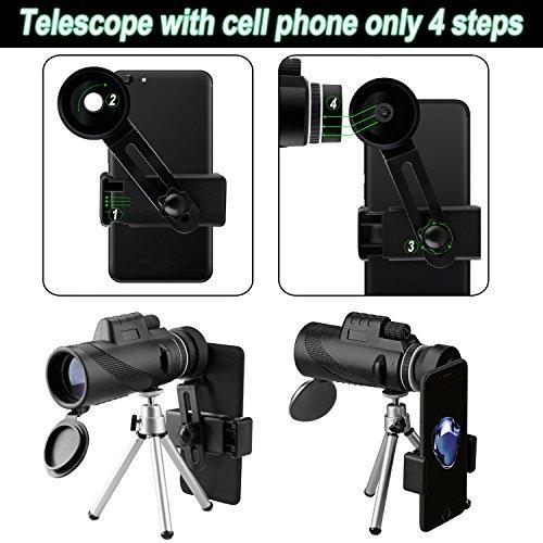 telescopio monocularhenf 40x60 alta potencia bak4 prisma fmc