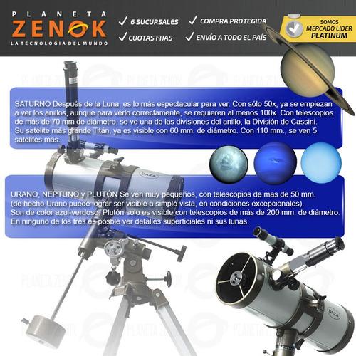 telescopio reflector montura ecuatorial planetas estrellas
