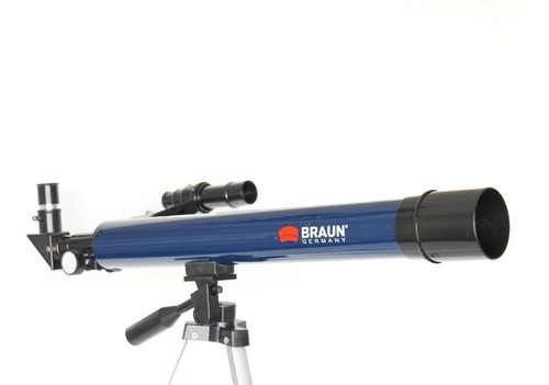 telescopio refractor braun 77aztl 700mm x60 tripode aluminio