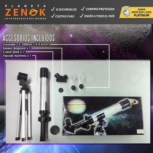 telescopio refractor daza aluminio tripode lentes planetas