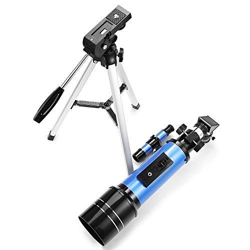 telescopio refractor de 70 mm con telescopio portátil tripo