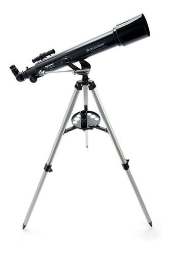 telescópio refrator powerseeker 70az celestron altazimutal com oculares de 4 mm e 20 mm e barlow de 3x original