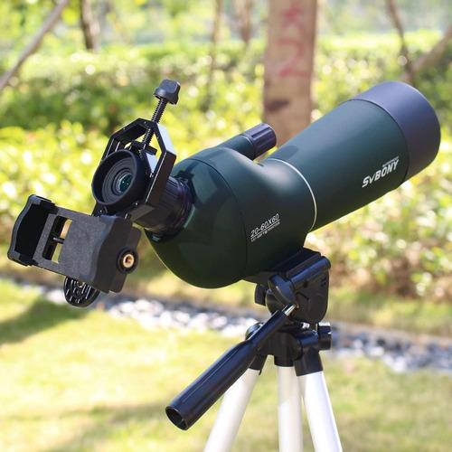 telescópio svbony sv401 20/60x zoom + tripé envio imediato