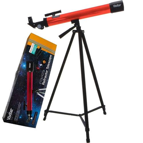 telescópio vivitar com ampliação 75x 175x c/ tripé 160x red
