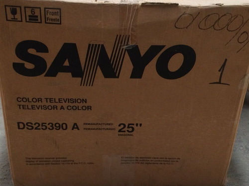 television a color sanyo 25