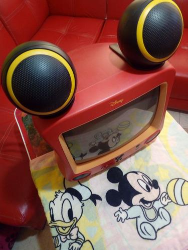 television convencional mickey mouse 13 pulgadas. usada.