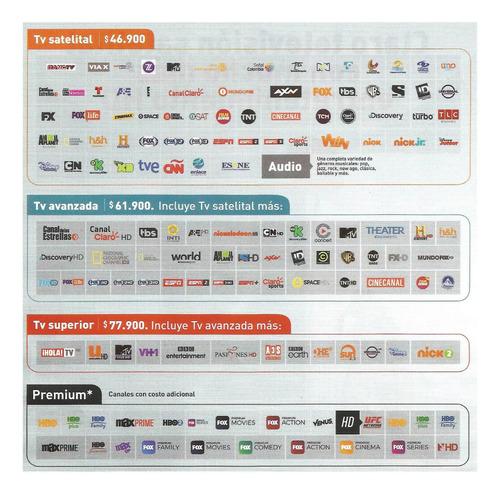 television, internet y telefonia fija  satelital