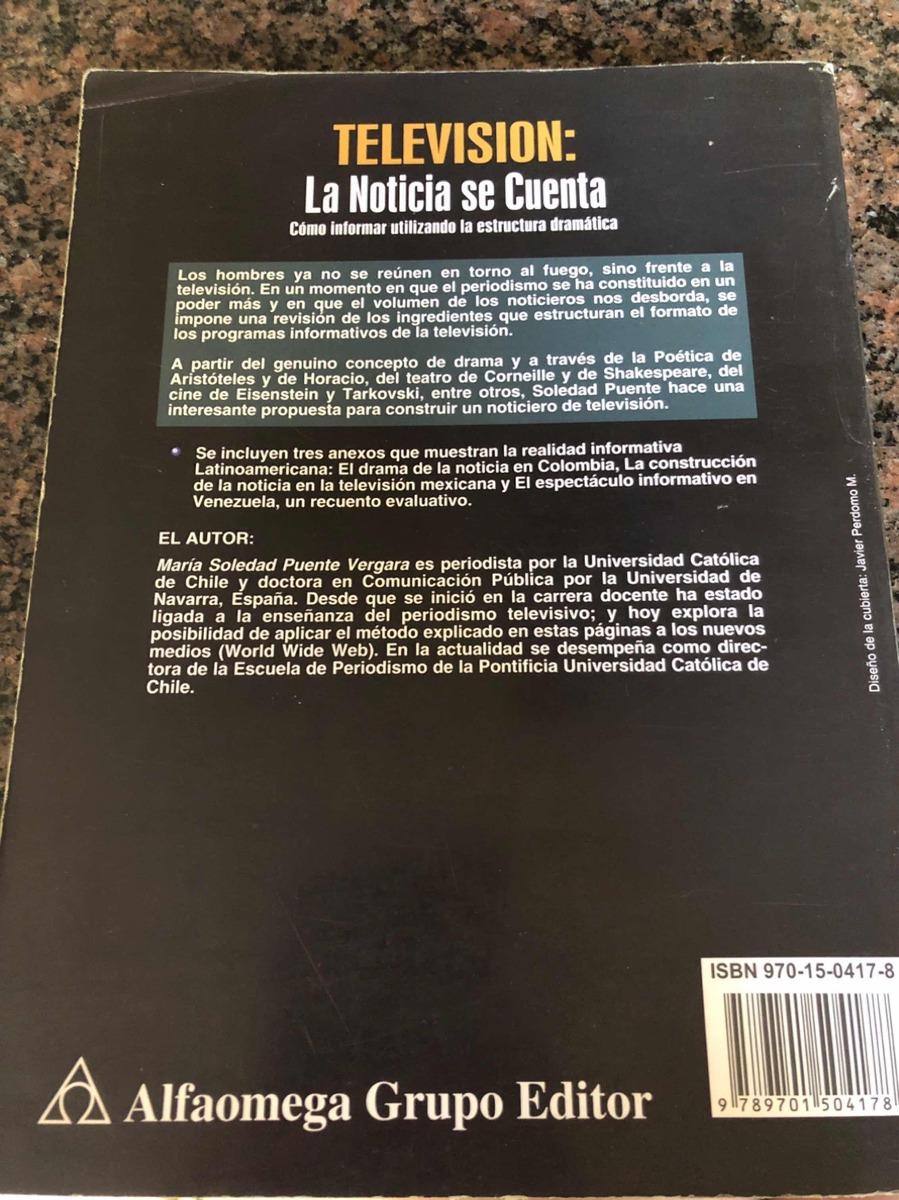 Television La Noticia Se Cuenta Soledad Puente Alfaomega 399 00