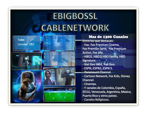 televisión por cable vía internet de por vida. único pago.