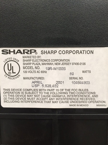 television sharp 19
