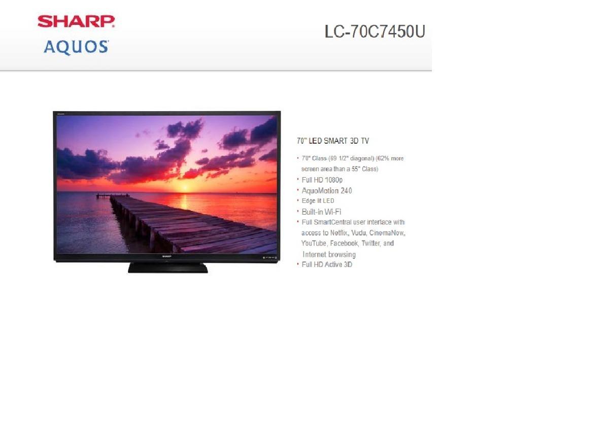 SHARP LC-70C7450U Smart TV Drivers for Windows Download