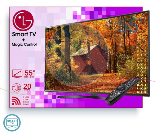 televisión smart tv lg, innova 32 43 49 50 55 pulgadas 4k hd