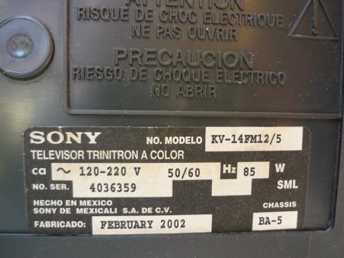televisión sony trynitron 14 pulgadas.