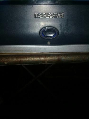 televisor 21 panavox con control, funcionando