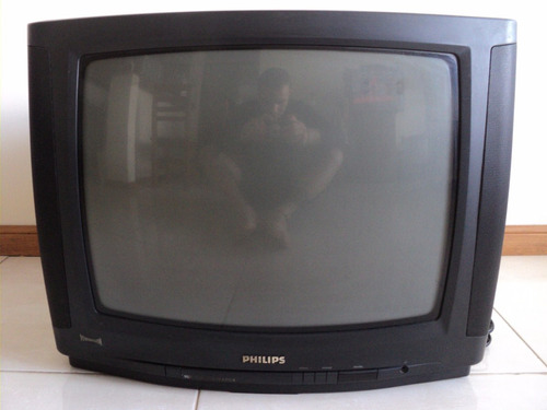 televisor 21 pulg philips color c/ control remoto! reparar