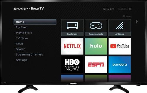 televisor 40 sharp led hd 1080p smart tv con roku tv. tienda